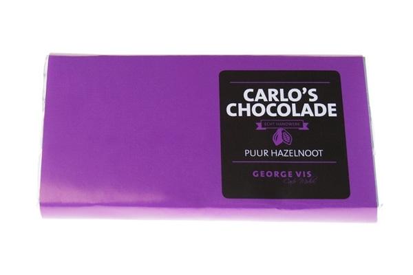 Carlo's Chocolade Puur Hazelnoot