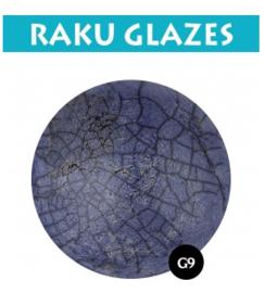 Donkerblauw G9 0,5ltr raku glazuur