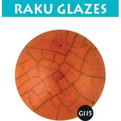 Oranje G115 0,5ltr raku glazuur