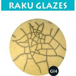 Lichtgeel G14 0,5ltr raku glazuur