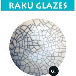 Transparant grote craquele G1 0,5ltr raku glazuur
