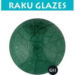 Donkergroen G11 0,5ltr raku glazuur
