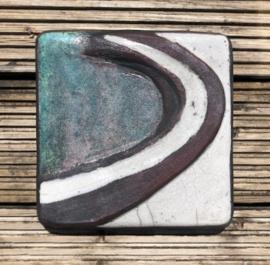 Keramiek relief 'de westerschelde'