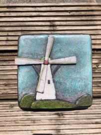 Keramiek relief  'molen'
