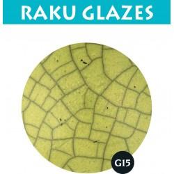 Geelgroen G15 0,5ltr raku glazuur