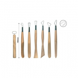 Set band mirettes-spatel 7 stuks - 025m