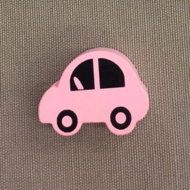 Houten auto 30 mm roze