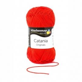 390 Catania haak/brei katoen kleur:  Tomatorood 390