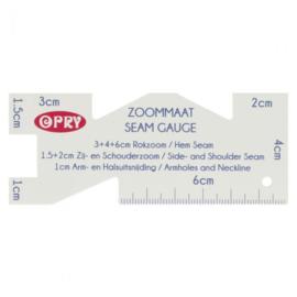 Opry Zoommaat plastic 10x4cm