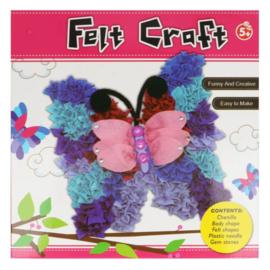 Viltpakket amigurumi voor kinderen vlinder