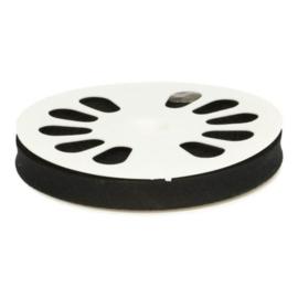 Dox Biaisband zwart 20mm - 20 meter op rol