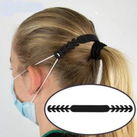 Siliconen oorbeschermers voor mondkapje (transparant)