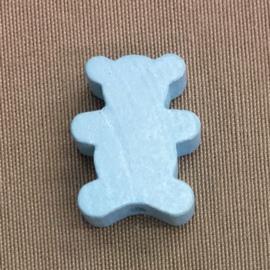 Houten beer 22 mm lichtblauw