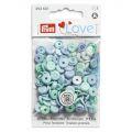 Prym Love drukknopen 9mm blauw-turquoise
