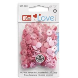 Prym Love drukknopen 9mm roze