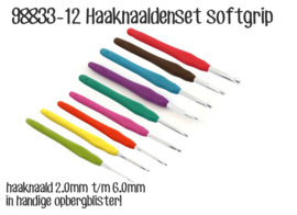 Opry Haaknaaldenset Softgrip - 2.0 - 6.0 mm - 9 st