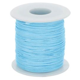 Glanskoord 1mm - blauw - 258