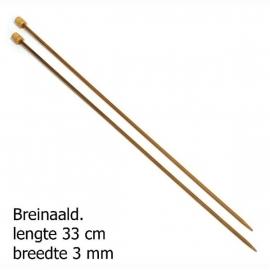 Pony breinaald 33cm bamboo 3mm