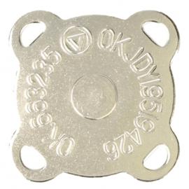 Magneetknopen 2x zo sterk aannaaibaar extra plat > zilver 1 stuk