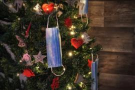 Mondkapje met Kerstprint