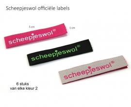 Scheepjes-label 6 stuks assortie