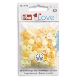 Prym Love drukknopen 9mm geel