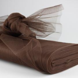 Tule -150cm breed (20 meter op rol)  Bruin