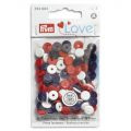 Prym Love drukknopen 9mm rood-wit-blauw