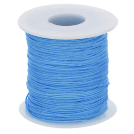 Glanskoord 1mm - blauw - 298