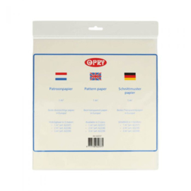 Opry Patroonpapier 3m2 transparant