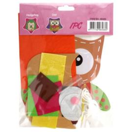 Viltpakket amigurumi voor kinderen uil