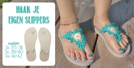 Slippers taupe 1paar - 37-38