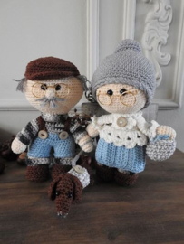 Funny Granny set met teckel