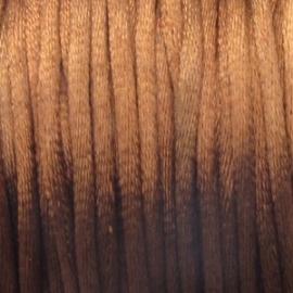 013 Satijnkoord 3mm Bruin per 1mtr