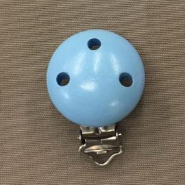 Houten speenclip 34 mm lichtblauw