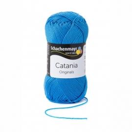 Catania haak/brei katoen kleur: Irisblauw 384
