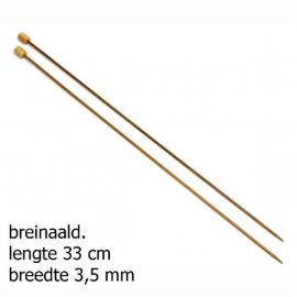 Pony breinaald 33cm bamboo 3.5mm