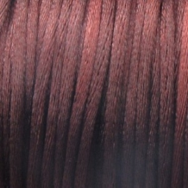 16702 Satijnkoord 2mm Donker Bruin per 1mtr