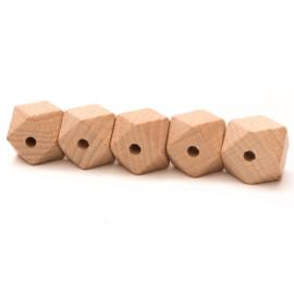 Hexagonkraal Hout 20mm (5 stuks)