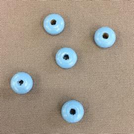 Houten lenskraal 10 mm lichtblauw