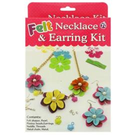 Viltpakket voor kinderen ketting en oorbellen