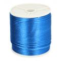 215 Satijnkoord 3mm Blauw per 1mtr