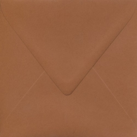Enveloppe chocoladebruin - 14x14