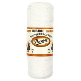Durable Breikatoen nr.6 100gr. kleur 009 wit