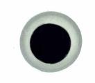 Dierenogen tweekleurig maat 17 = 10,6mm (1 paar)