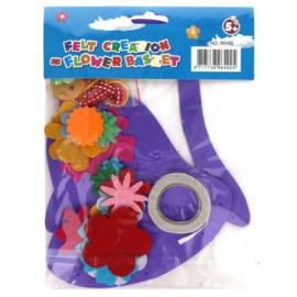 Viltpakket voor kinderen bloemenmand