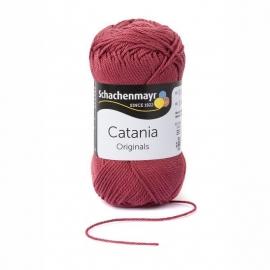 Catania haak/brei Katoen Kleur: Rose Marsalarot 396