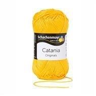 208 Catania haak/brei katoen kleur:  Zonnegeel 208