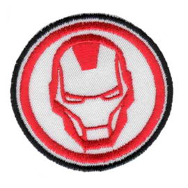 Applicatie Button Iron Man geborduurd
