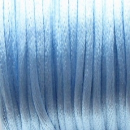 16707 Satijnkoord 2mm Licht Blauw per 1mtr